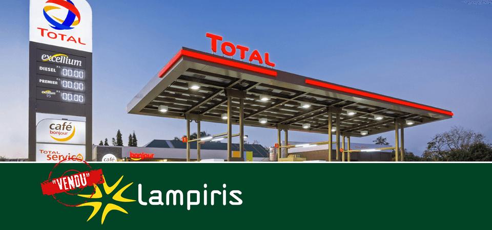 Overgang van Lampiris in de handen van Total