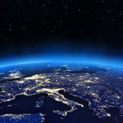 De nacht op Aarde.