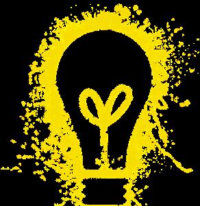 Gele elektrische lamp