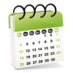 Kalender om een onderhoudsdatum te kiezen
