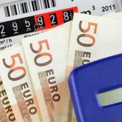 Gasmeter en eurobiljetten