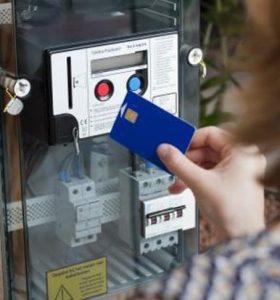 Een kaart opladen van een budgetmeter.